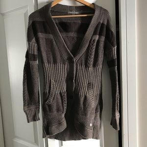 Smartwool Brown Knitted Cardigan Wool Sweater